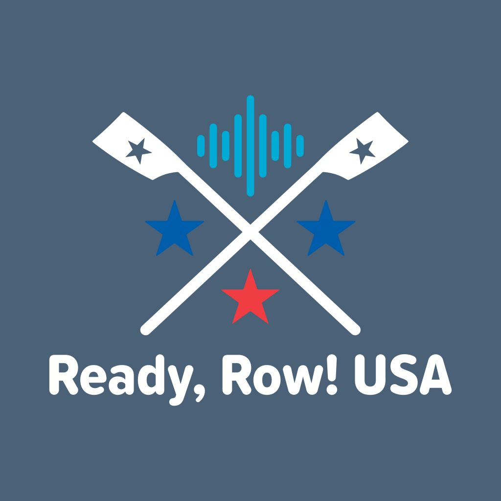Ready Row USA logo, rowing podcast, US Rowing