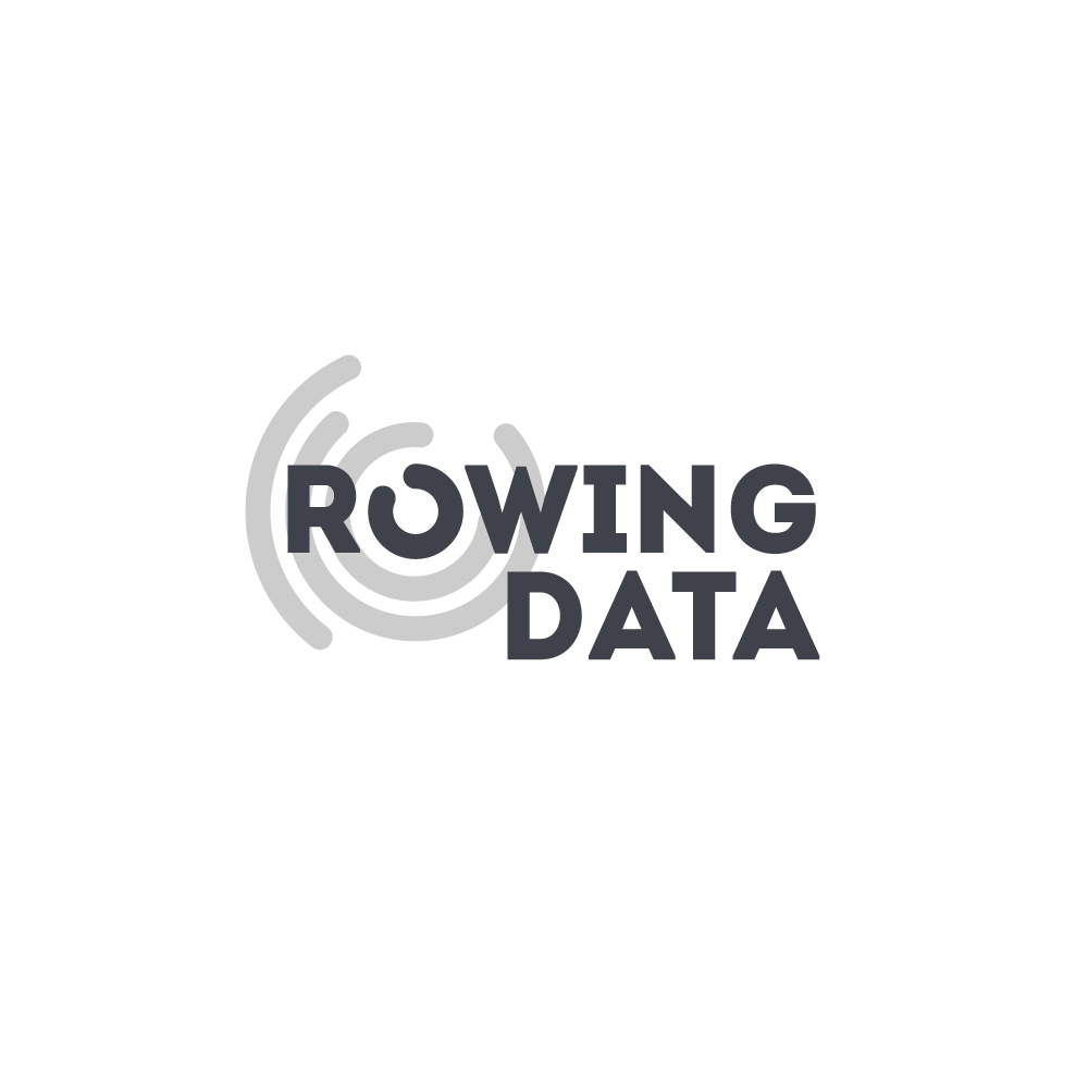 rowing data podcast logo, rowing data, rowing podcast