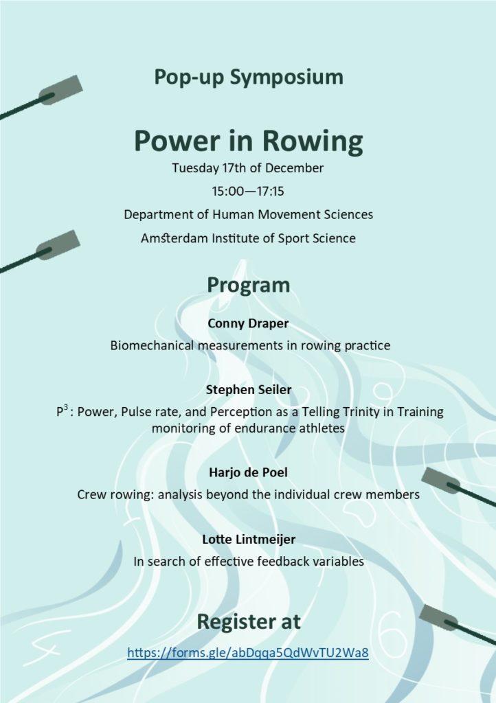 power in rowing, rowing conference, Conny Draper, Stephen Seiler, Harjo de Poel, Lotte Lindtmeyer